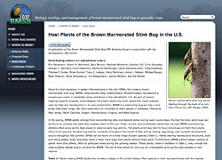 Host Plants of the Brown Marmorated Stink Bug in the U.S.